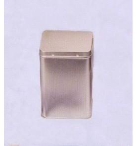 Boite à thé métal 'Argenté' petite carrée 50 gr