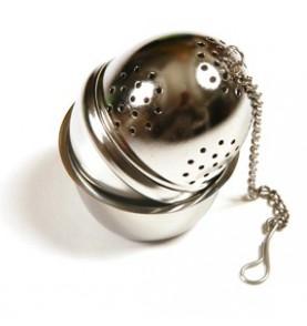 Boule à thé métal oeuf avec support diamètre 4cm