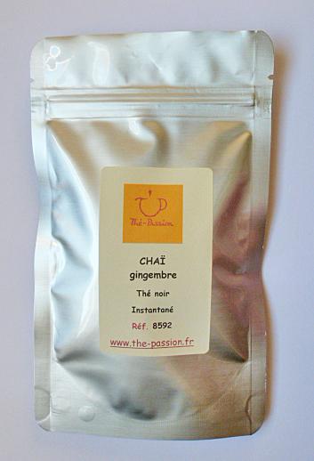 Thé noir chaï instantané gingembre sachet doypack