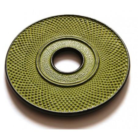 Dessous théière en fonte Denxi vert jaune pistache 18 cm