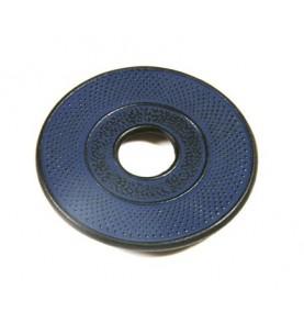 Dessous de théière en fonte DENXI bleu saphir petits picots diamètre 14cm