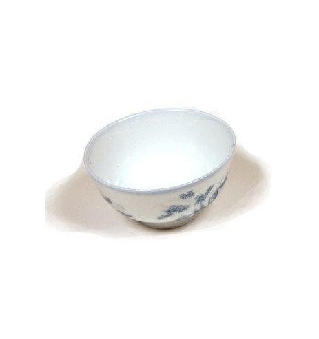 Coupe a thé évasée porcelaine bleue chinoise