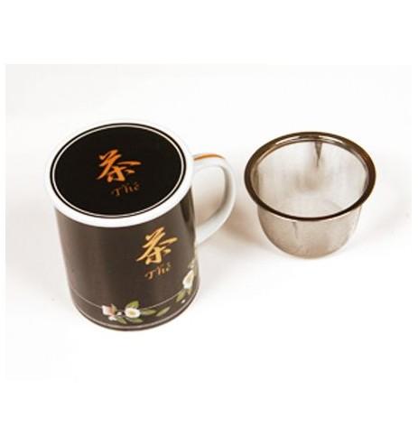 Tisanière écriture thé pour boire son thé
