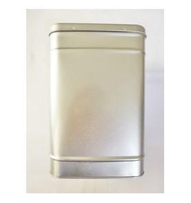 Boite à thé métal ARGENTE carrée grande 2,3 kg