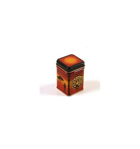 Boite à thé métal carrée AFRIKA 25 gr