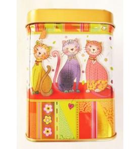 boîte métal thé chats dansant