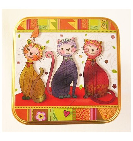 boîte thé chats dansant