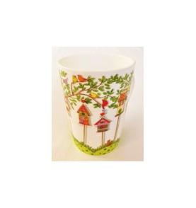 Mug porcelaine Amours d'Oiseaux grand format