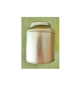 Boite à thé métal ronde doré pagode 100 gr