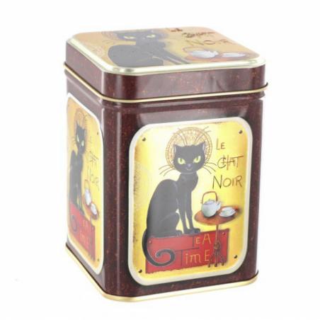 """Boîte à thé 100gr motif """" Le Chat Noir"""""""