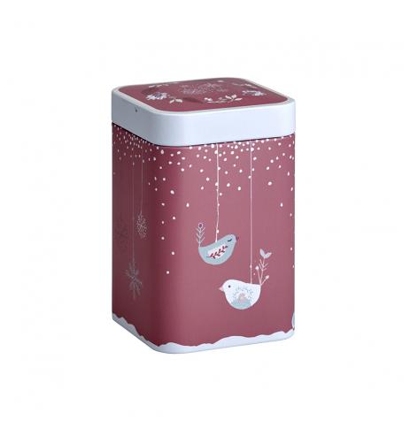 Boîte à thé ornée d'Oiseaux