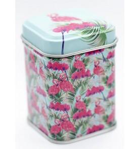 Boîte à thé motif Flamant Rose
