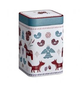 Boîte à thé animaux de noël