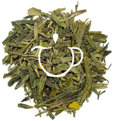 Thé vert Lung Ching de Printemps de Chine