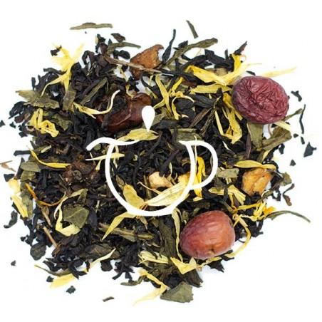 thé noir thé vert bio l'île aux trésors
