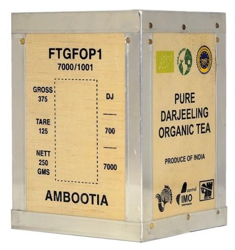 Thé Noir BIO Darjeeling AMBOOTIA FTGFOP 2e récolte Boite en bois 250g