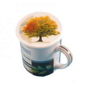 Tisanière Mug porcelaine ARBRE de VIE  *Nouveau*