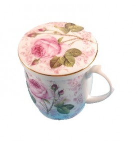 Tisanière Mug porcelaine ROSES Cinzia *Nouveau*