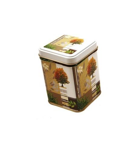 Boite à thé métal 'Arbre de Vie carrée 113g *Nouveau*