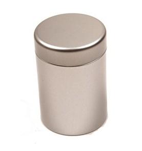 Boite à thé métal 'Argenté' ronde 125g TILL *Nouveau*