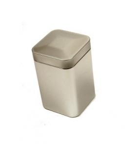 Boite à thé métal 'Argenté' carrée 113g renforcée TILL *Nouveau*