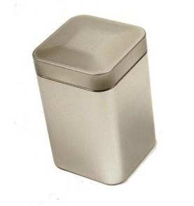 Boite à thé métal 'Argenté' carrée 250g renforcée TILL *Nouveau*