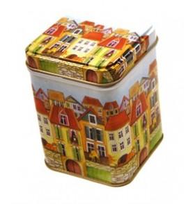 Boite à thé métal 'PUEBLO' carrée 113g *Nouveau