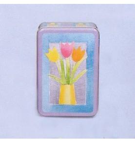 Boite à sucre métal 'Tulipes'