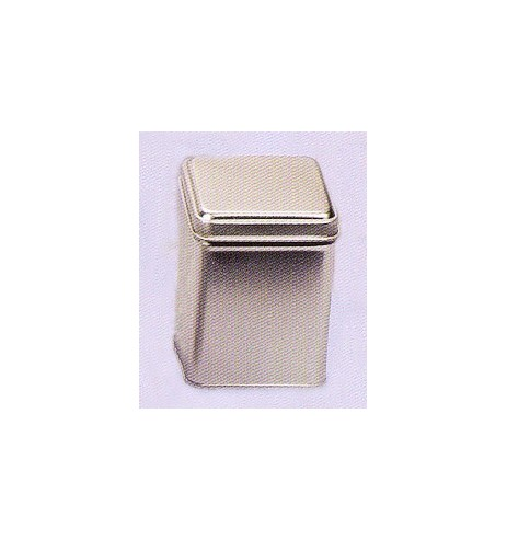 Boite à thé métal 'Argenté' carré 113g TRIO *Nouveau*