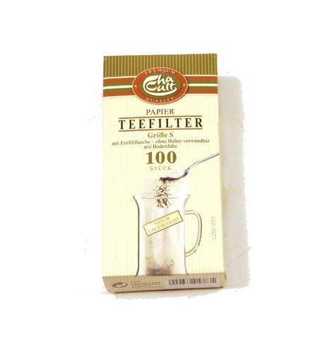 Boîte de filtres à thé individuels en papier 5cm x 13cm par 100