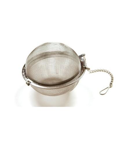 Boule à thé métal grand format pour tisane : diamètre 7,5cm