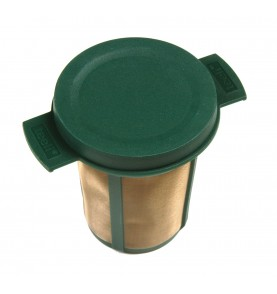 Filtre à thé universel plastique vert diamètre 6cm hauteur 7,5cm