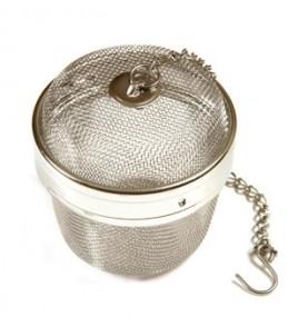 Boule à thé métal 6 cm grand format fermeture baïonnette