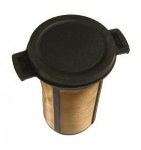 Filtre à thé universel plastique noir