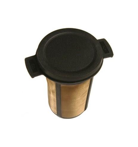 Filtre à thé universel plastique noir : diamètre 6cm hauteur 7,5cm