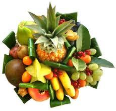 corbeille de fruits exotiques