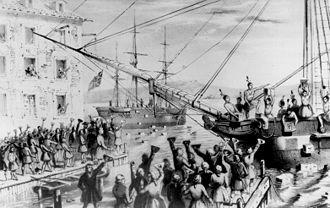 Boston Tea Party anecdotes sur le thé